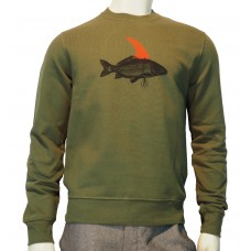 Crewneck printed Sweater Pez light khaki