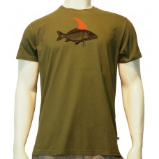 S/S regular printed TS Pez fine cotton khaki