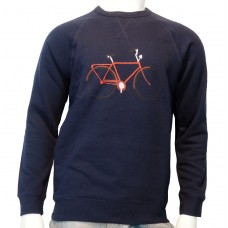 Ranglan printed Sweats Bike Nios Sweat navy