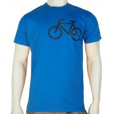 SS regular printed TS bike signal fine cotton turquoise