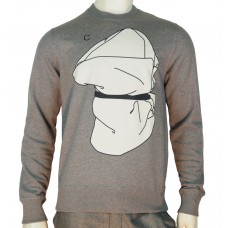 Loreak Crewneck printed Sweats matter C light sweat fabric heather grey