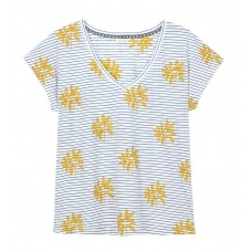 White Stuff 'Fun Stripe embroidered Tee'