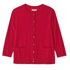 White Stuff 'Sunray Button Cardigan' coral red