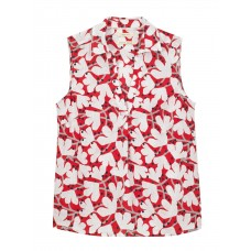 White Stuff 'Cherry Tree Vest' tomato red