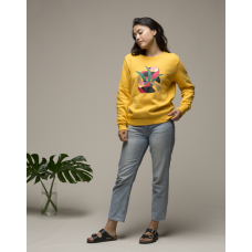 Olow Sweater 'Toucanica' jaune