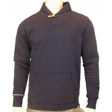 Sweatshirt Shawl Collar Haddock light sweat fabric navy