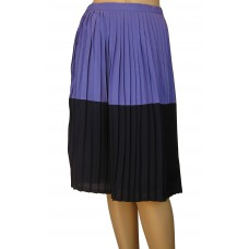 'Penelope pleated colour Block Midi skirt'