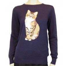'Nita Curious Cat Sweater'