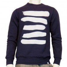 Crewneck printed Sweat Brocha light sweat fabric navy