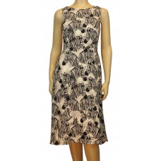 'Liza Zebra Party Midi Dress'
