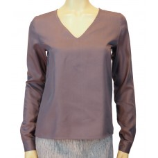 Wunderwerk 'Tencel V-neck Bluse' dust purple