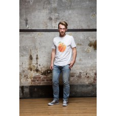 Olow T-Shirt 'Orange ball' blanc