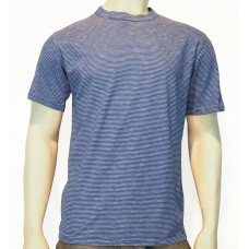 T-Shirt S/S Marisma cotton Lino Slub blue/white
