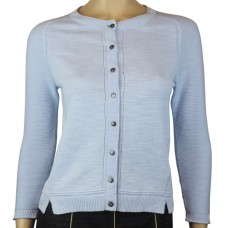 White Stuff 'Lagoon Button Cardi' pool blue