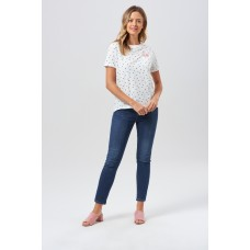 'Mimi Flamingo Polka Dot T-Shirt'
