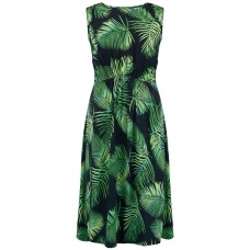 'Gloria Palm Batik tie back Dress'
