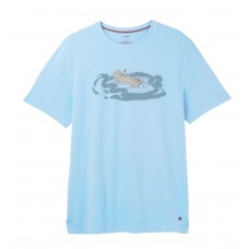 White Stuff 'Floating Otter Graphic Tee' blue