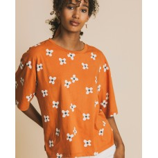 FLOWERS TERRACOTTA T-SHIRT