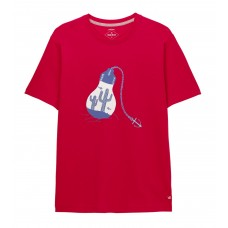 White Stuff 'Lightbulb Graphic Organic Tee' red