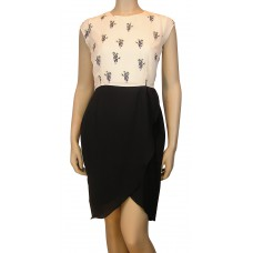 'Panda Print tulip skirt dress'