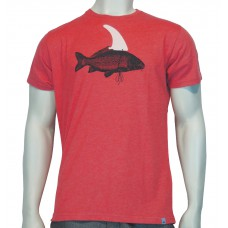 S/S regular printed T-Shirt Pez fine cotton haether red