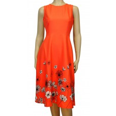 'Liza Border floral Dress'