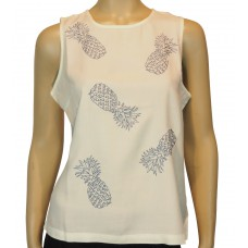 'Carly Pineapple Cut Work Top'