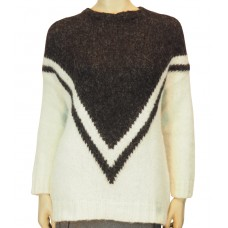 Knit Sweater Zapi fleece ecru/black