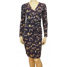 Callie bright birdie Jersey Dress navy