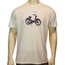 'S/S regular printed TS TM Moto fine cotton white'