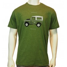 S/S regular printed TS TM Range Rover fine cotton heather cactus'