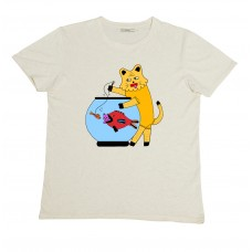 Olow T-Shirt Catfish  ecru chine