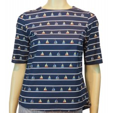 Sail Away print Top